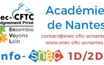 Les lettres info du Snec-CFTC de l'académie de Nantes