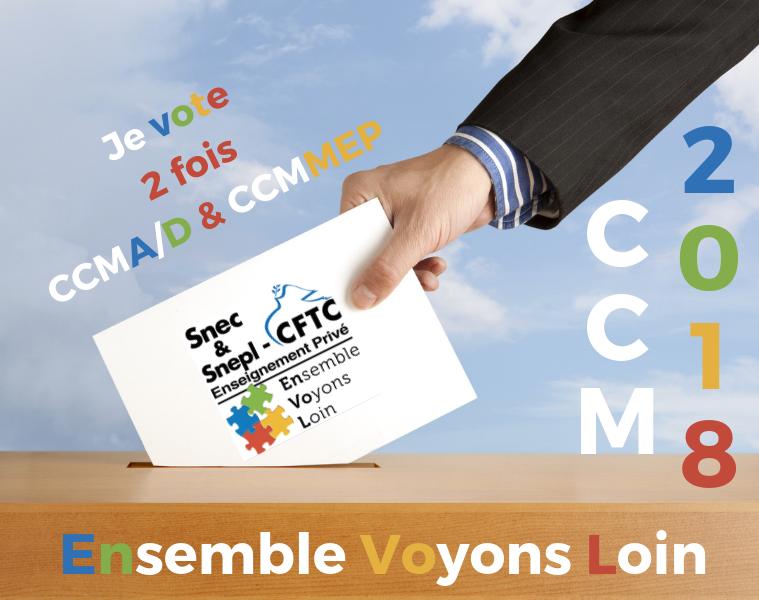 Profession de foi et bulletin de vote Snec-Snepl-CFTC CCMD Vendée